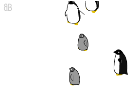 跟着鼠标移动的企鹅