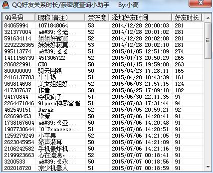 一键查看自己所有QQ好友是何时添加软件