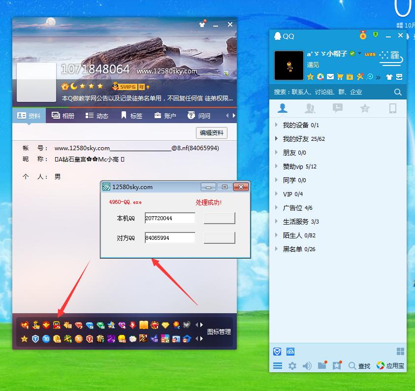 强制查看任意QQ隐藏图标,资料工具源码